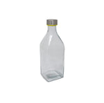 PJ V3130 GLASS WATER BOTTLE FAT ROUND 1000ML