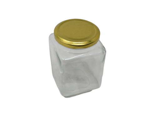 ESTEEM V4057 BRASS LID JAR SQUARE