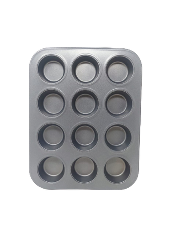 BAKERS MS MUFFIN MOULD 12 IN 1 HEAVY