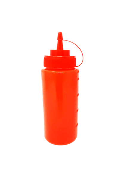 AA PLASTIC SAUCE BOTTLE 16OZ RED
