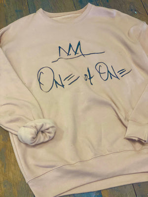 One Of One Embroidered Crewneck [Sand]