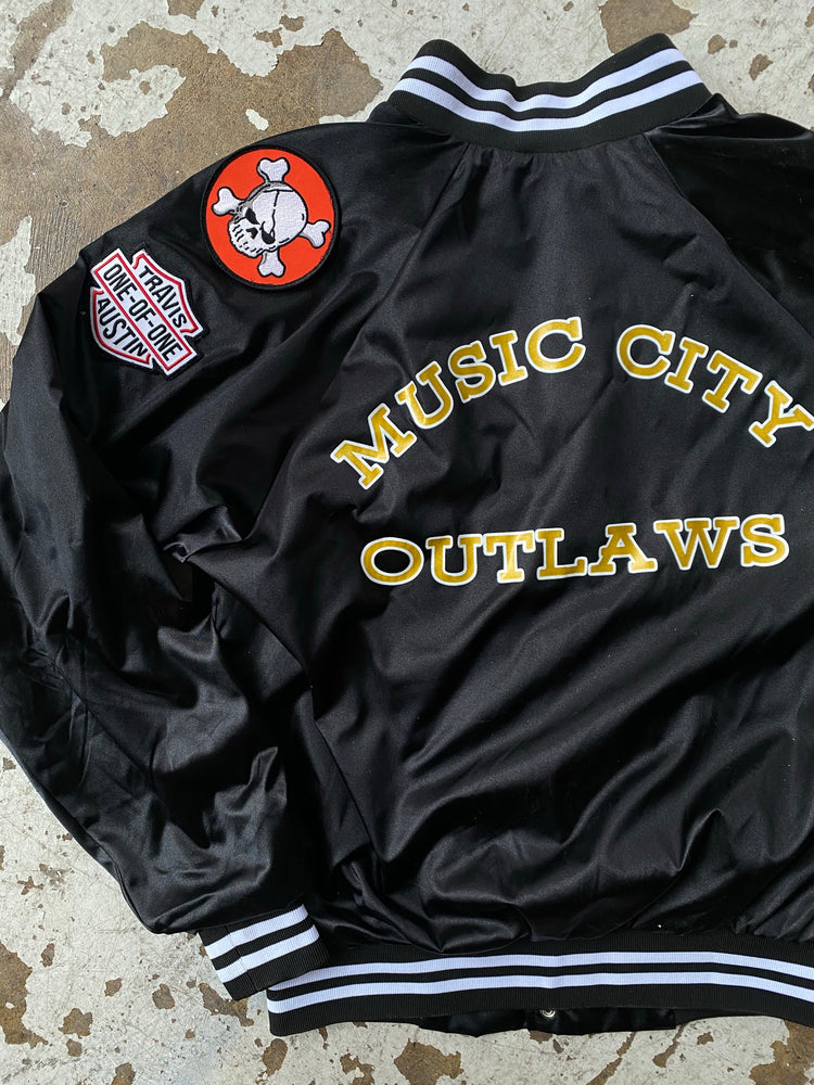 Black Music City Outlaws Bomber Jacket