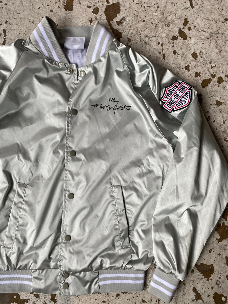 Silver Music City Outlaws Bomber Jacket