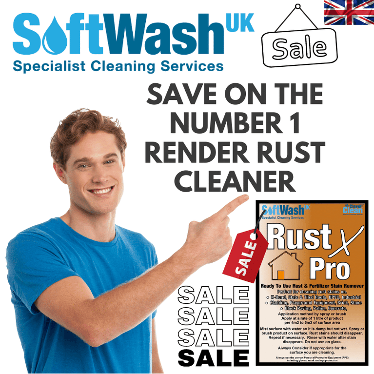 Rust X Pro soft wash chemical