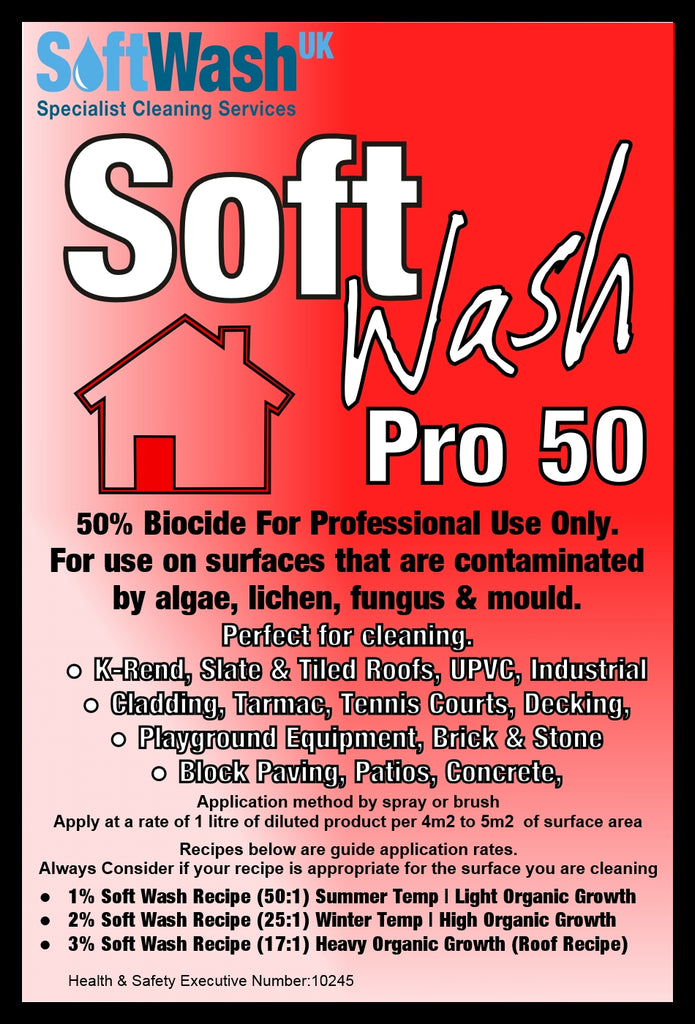 Soft Wash Pro 50 Professional Grade 50 Biocide