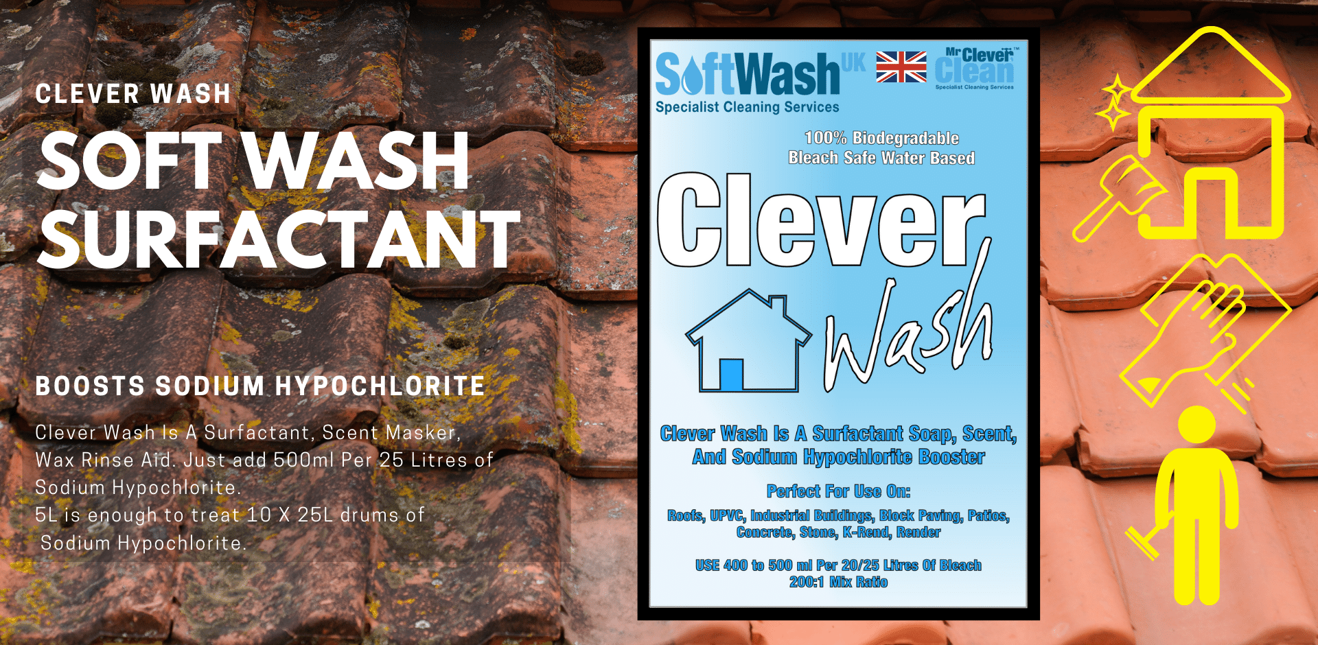 Cleverwash soft wash Chemicals
