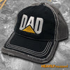 """DAD"" Embroidered Distressed Hats"