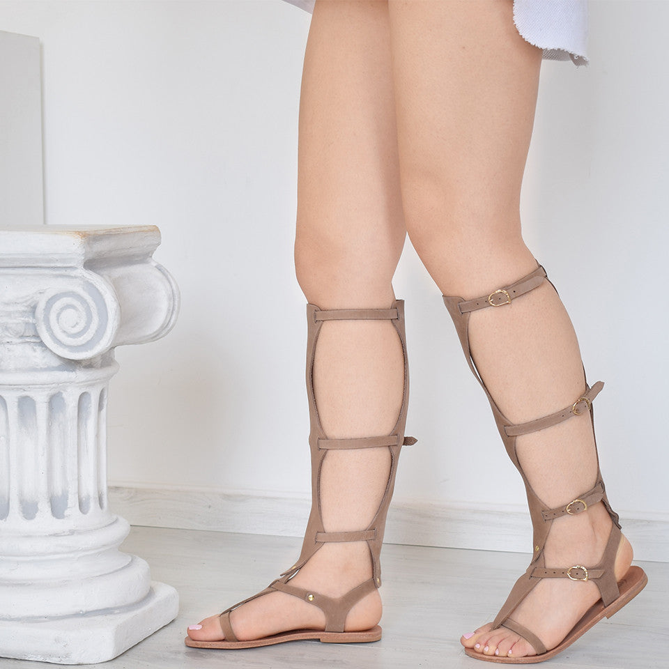 Aglaea Taupe Two, Gladiator & Strappy Sandals, gladiator sandals
