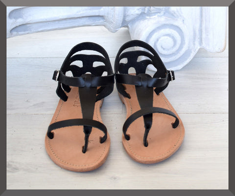 Hermes God sandals, Women Sandals Leather Samothrace