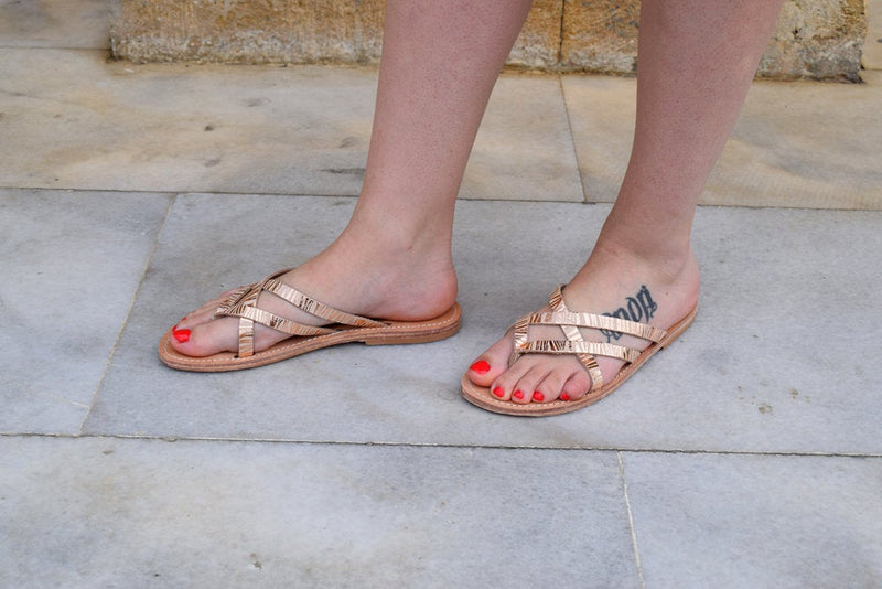 sandals, Ancient grecian sandals, Greek leather sandals, roman sandals, womens leather sandals, Metal gold sandals,leather sandals CORALIE