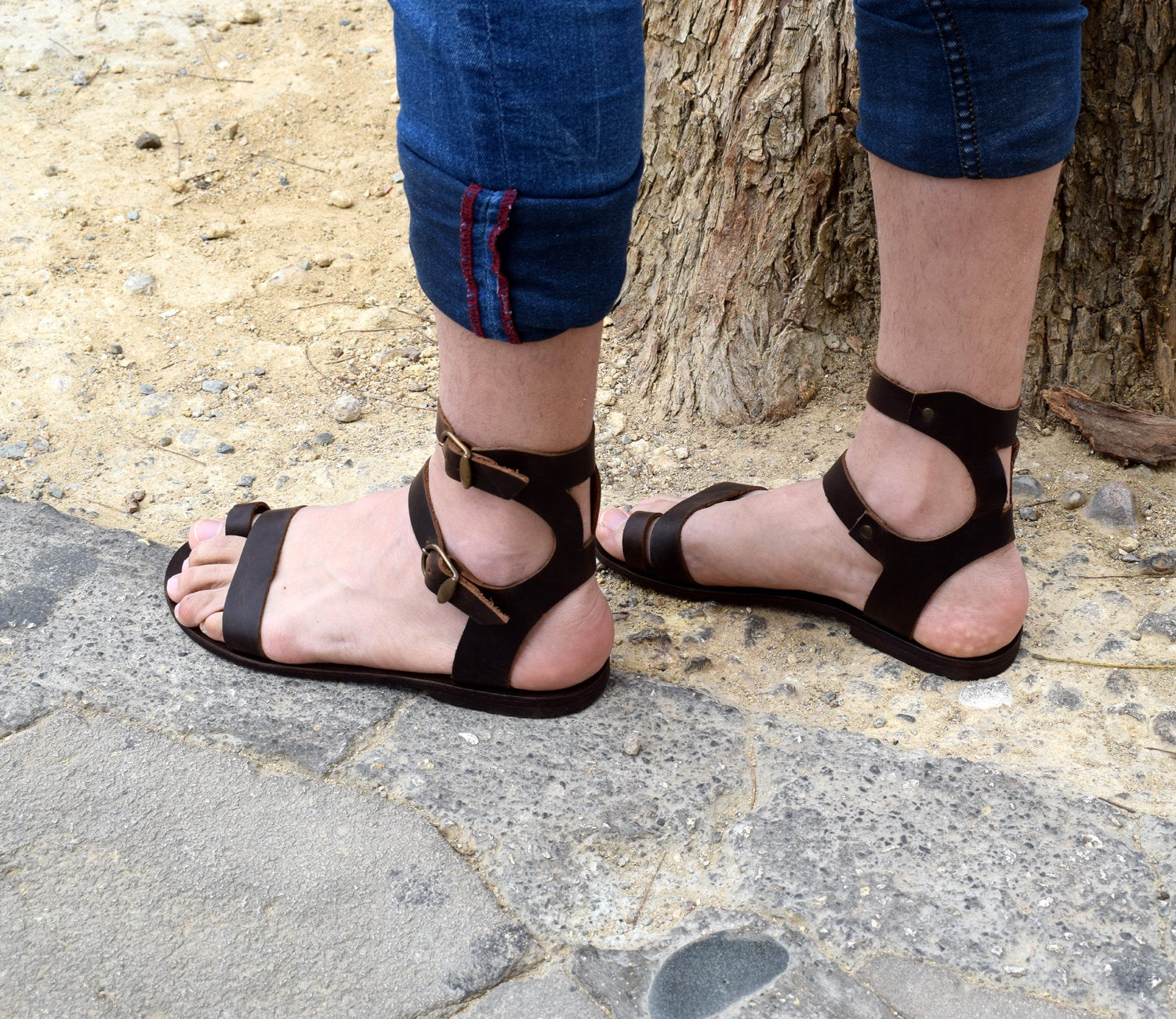 Free Shipping, Handmade Sandals, Greek leather sandals, Men brown sandals, Men Sandals,Genuine Leather sandals,Sport Sandals,MAXIMOS Sandals