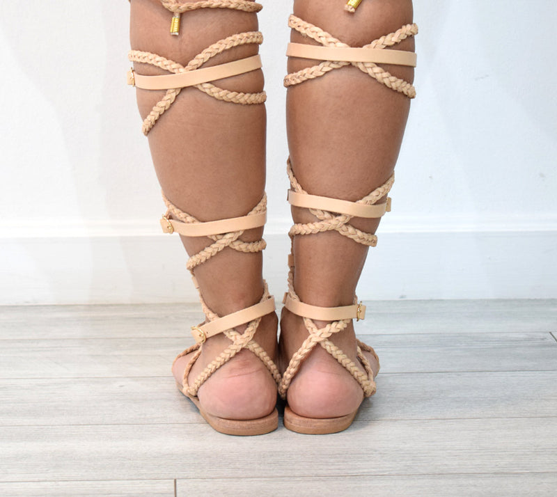 Ancient Greek leather sandals, Lace up sandals, Gold sandals, Gladiator sandals, Women sandals, flat sandals, APHRODITE sandals