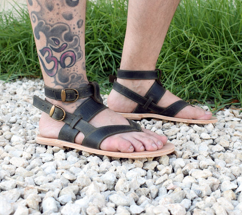 Khaki sandals for men, Tom Gladiator Men Sandals, leather sandals, Handmade Spartan Sandals, Gift For Men, Men Gift, Genuine Leather