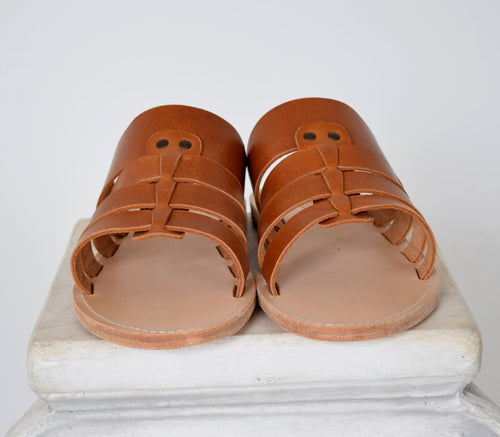 Handmade men sandals, High Quality Genuine Leather Tan Natural sandals