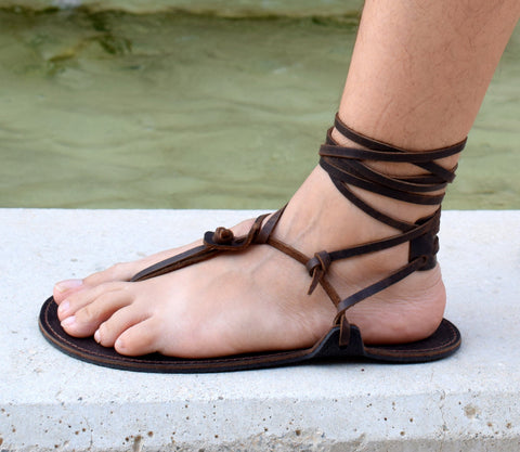 Andros Men Barefoot Leather Sandals