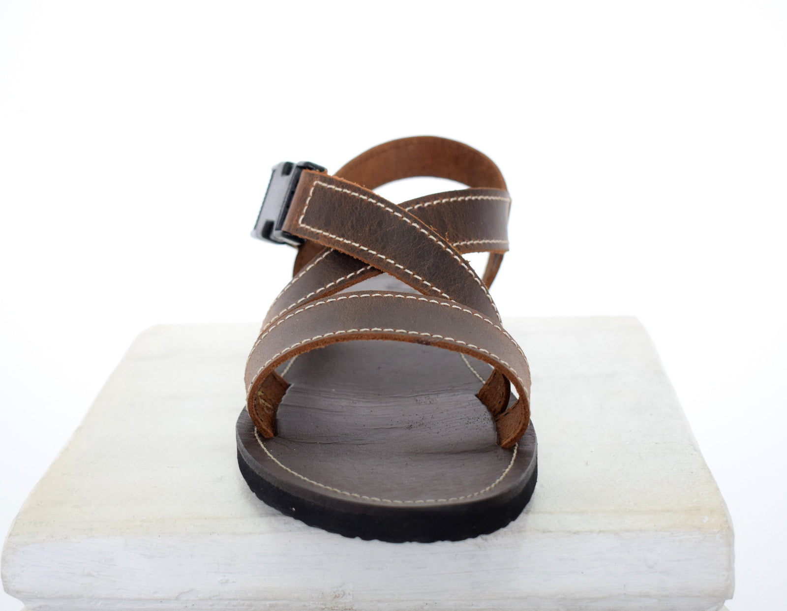 Handmade leather Men sandals with Free express shipping