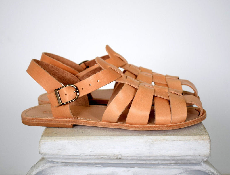 Greek Men Leather Sandals made by hand.