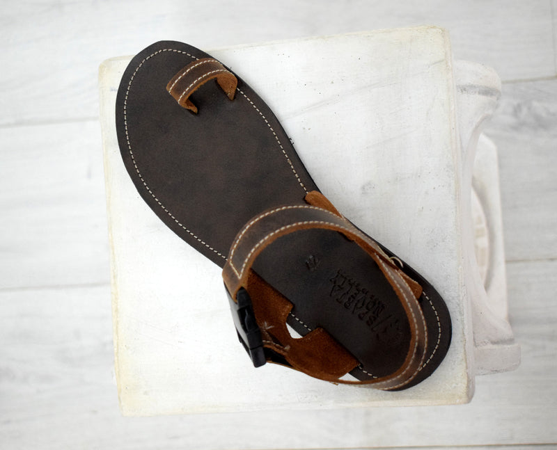 Men sport sandals with High Quality Genuine Leather and Free express shipping