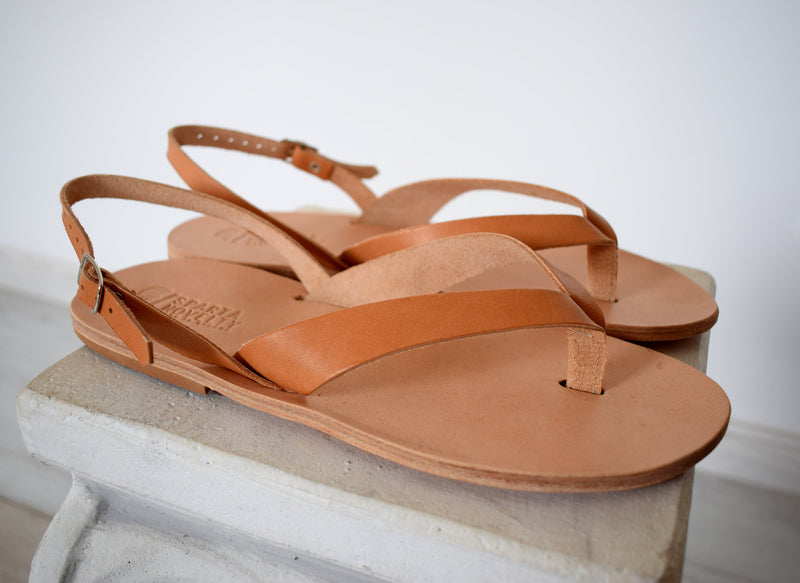 Flip flop Greek Leather sandals Men, Natural Tan Color, Gift For Men, Handmade Sparta High Quality Genuine Leather sandals,