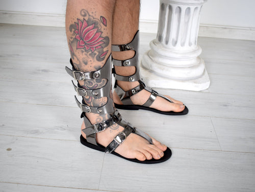 Gladiator Men Sandals, Movie and Theater gladiator sandals, Handmade Sparta Sandals, Genuine Leather sandals, Sandals for Party