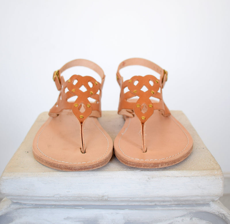 FlipFlop sandals, T-strap leather sandals, Handmade Thong women sandals