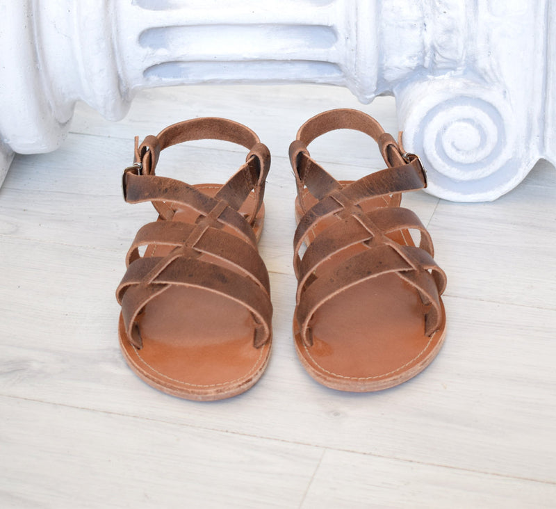 Men sandals, Spartan sandals,  handmade sandals, men sandals, High Quality Genuine Leather sandals, Brown sandals LEROS