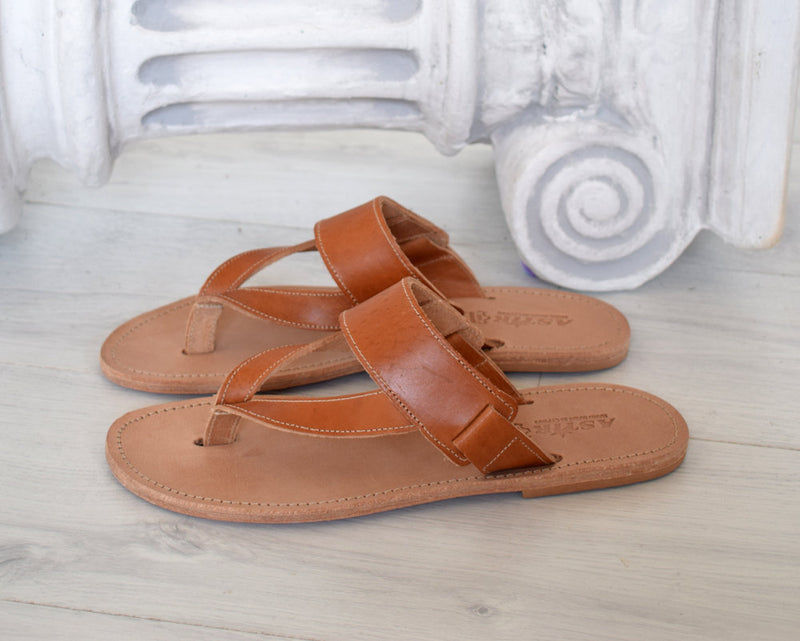 Men Sandals made with genuine Leather, Ancient Sandals, Handmade Sandals,  Flip Flop Sandals, Jesus Sandals, Greek Sandals DELOS