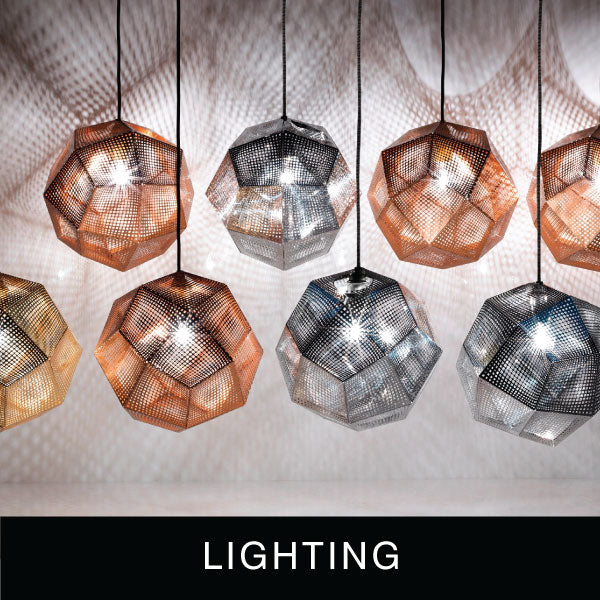 Contemporary and eclectic designer lights, lamps, table lamps, floor lamps, ceiling lights, pendant lights, wall lights and more.