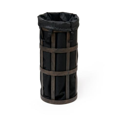 Cage Laundry Basket Dark Oak