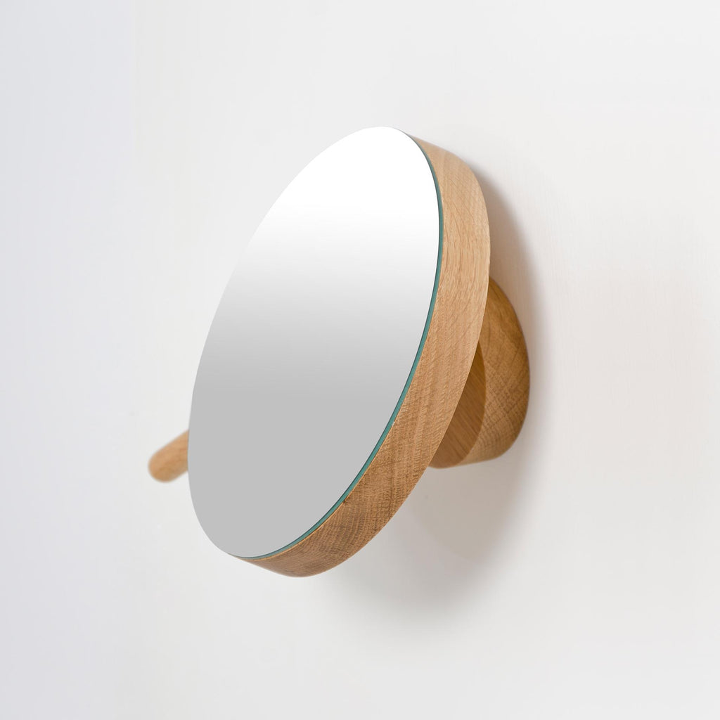 Magnifying Mirror Natural Oak
