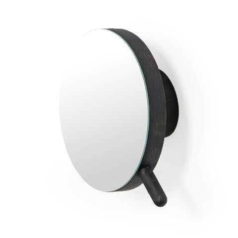 Magnifying Mirror Dark Oak