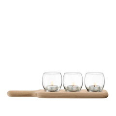 LSA International Paddle Tealight Holder Set, Tableware