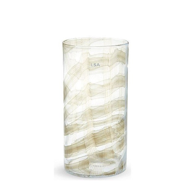 LSA International Linen vase 32cm Taupe, Accessories