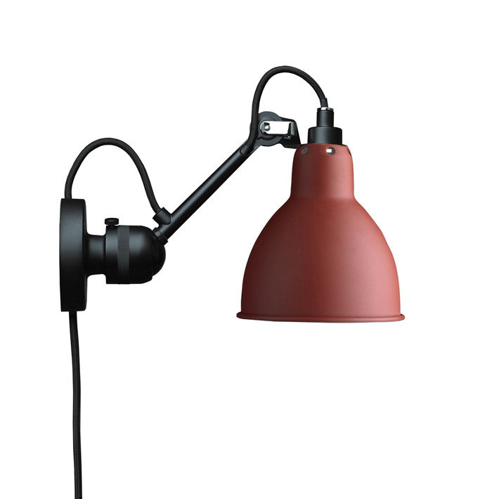 DCW Lampe Gras 304 Wall Lamp Red, Lighting