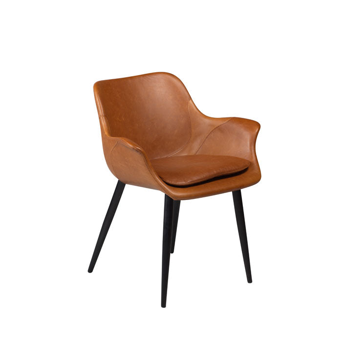 Combino Chair in Vintage Light Brown Leather | Dan-Form | Gudang Home, Malaysia