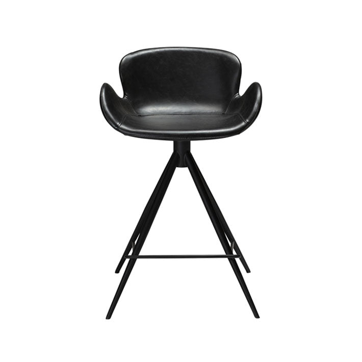 Gaia Counter Stool in Vintage Black Leather | Dan-Form | Gudang Malaysia