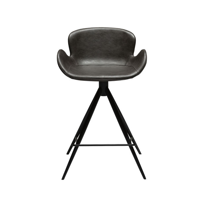 Gaia Counter Stool in Vintage Grey Leather | Dan-Form | Gudang Malaysia