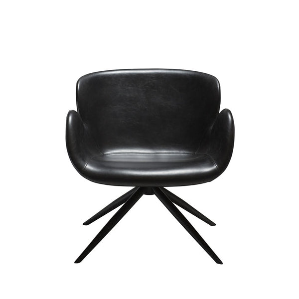 Gaia Lounge Chair in Vintage Black Leather | Dan-Form | Gudang Malaysia