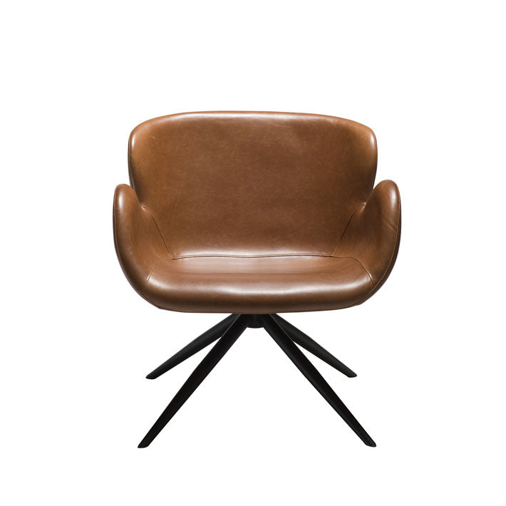 Gaia Lounge Chair in Vintage Brown Leather | Dan-Form | Gudang Malaysia