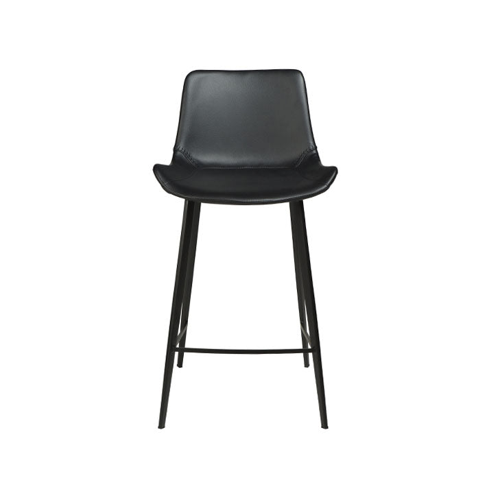 Hype Counter Stool in Black Leather | Dan-Form | Gudang Malaysia