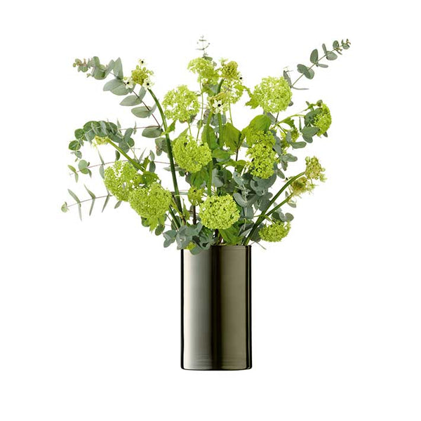 LSA InternationalFlower Metallic Cylinder Vase Platinum, Accessories