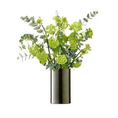 LSA International Flower Metallic Cylinder Vase Platinum, Accessories