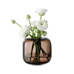 LSA International Molten Cube Vase 11cm Brown, Accessories