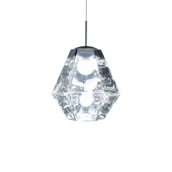 Tom Dixon Cut Tall Chrome Pendant Light