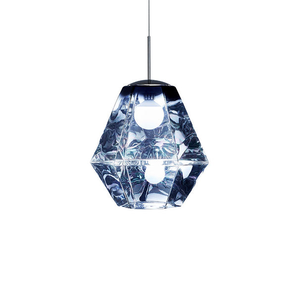 Tom Dixon Cut Tall Smoke Pendant Light