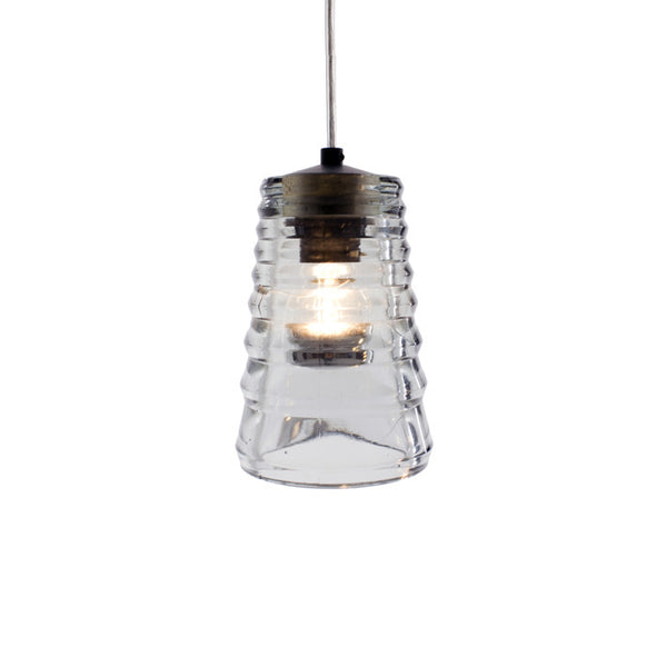 Pressed Glass Pendant Light Tube