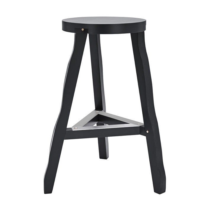 Offcut High Stool Black