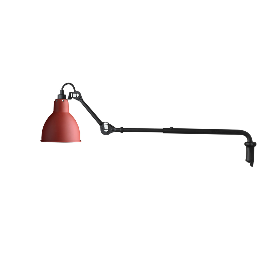 DCW Lampe Gras 203 Wall Lamp Red, Lighting