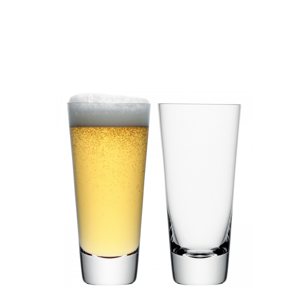 Madrid lager glass x2