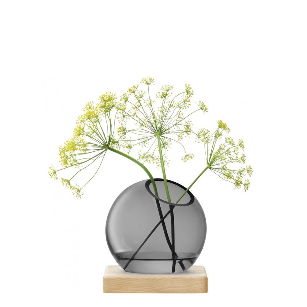 Axis vase & ash base 14.5 cm grey